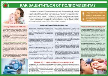 Санбюллетень Как защититься от полиомиелита?