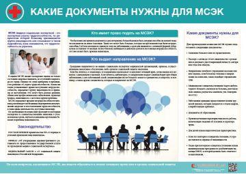 Плакат Какие документы нужны для МСЭК